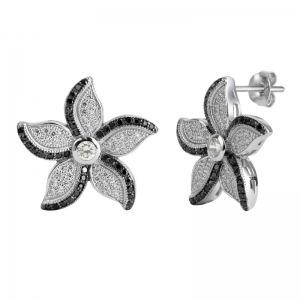 Leaf Shape 925 Silver Earrings