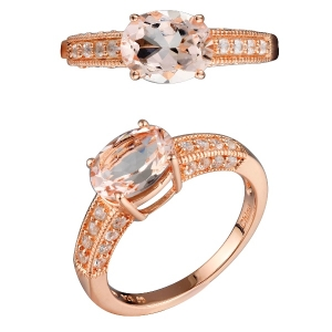 Natural Morganite Gemstone Ring